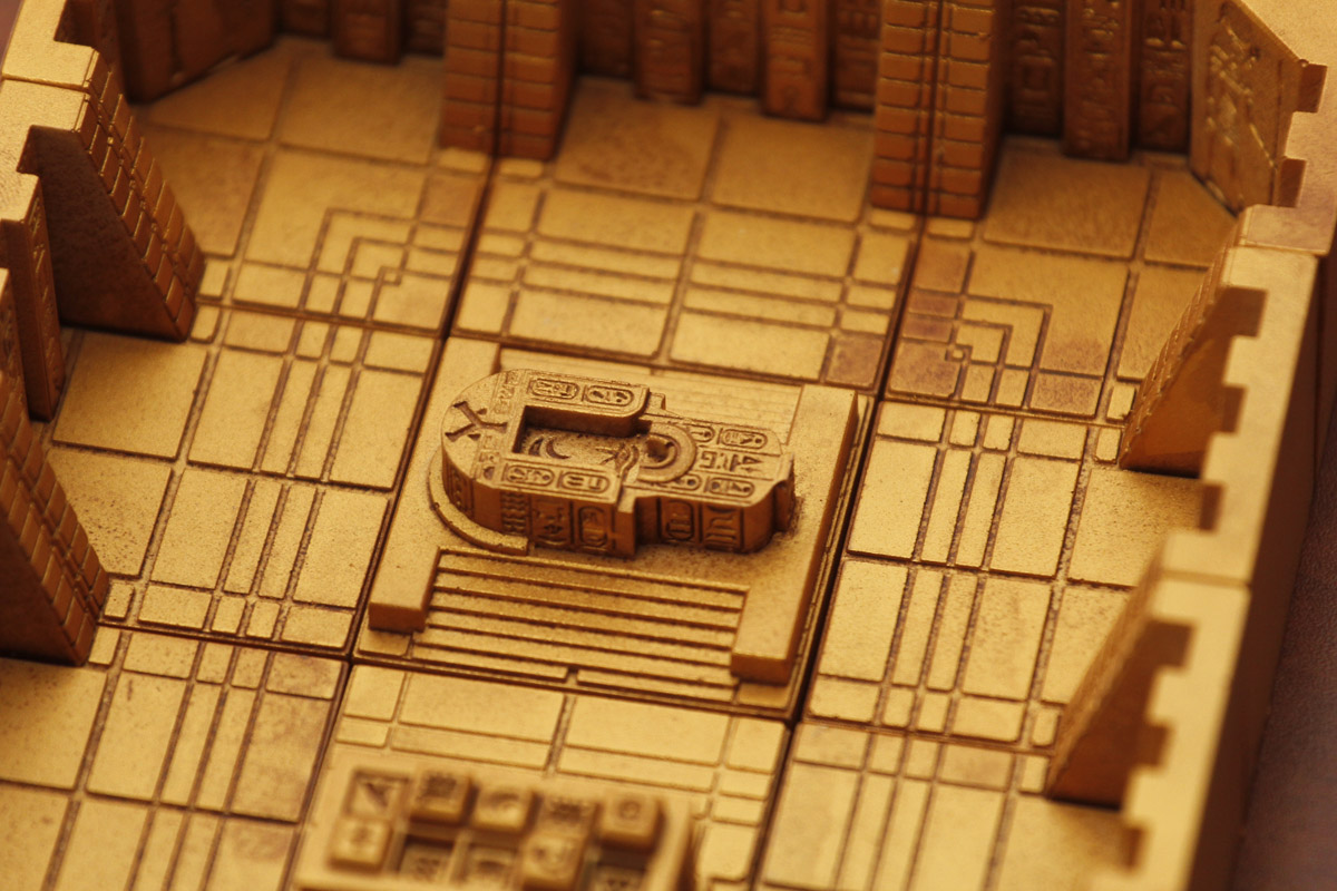Golden Egytptian scifi tabletop game tiles for miniatures and d&d